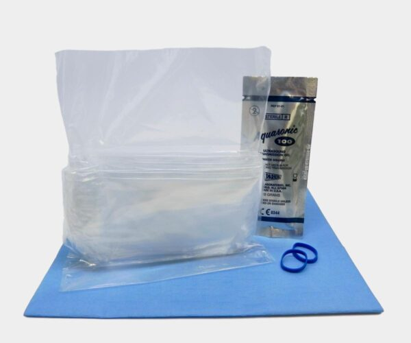 """Telescopic Clear Surgical Ultrasound Probe Cover 5.5"""" x 96"""""""