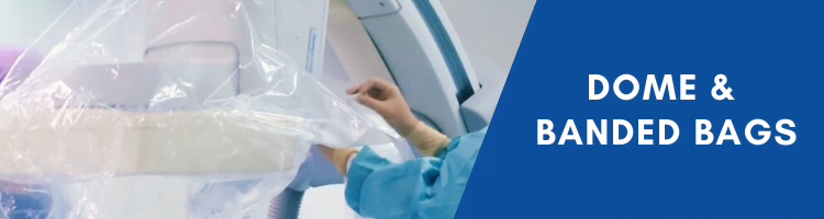 Dome and banded sterile bags for surgical equipment