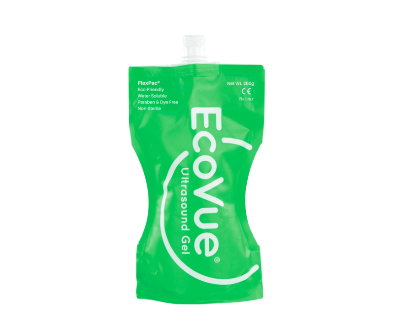 EcoVue Flexpac is a sustainable ultrasound gel