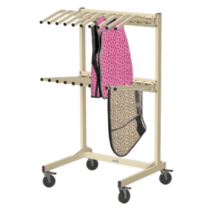 Valet Apron Rack with Dual Hanger Option